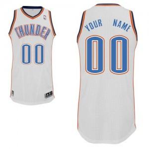 Oklahoma City Thunder Personnalisé Adidas Home Blanc Maillot d'équipe de NBA en vente en ligne - Authentic pour Enfants