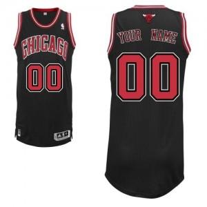 Maillot NBA Authentic Personnalisé Chicago Bulls Alternate Noir - Enfants