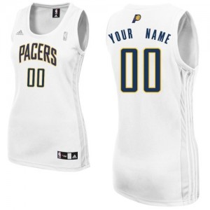 Maillot NBA Blanc Swingman Personnalisé Indiana Pacers Home Femme Adidas