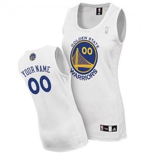 Golden State Warriors Authentic Personnalisé Home Maillot d'équipe de NBA - Blanc pour Femme