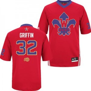 Maillot Adidas Rouge 2014 All Star Authentic Los Angeles Clippers - Blake Griffin #32 - Homme