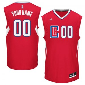 Maillot NBA Authentic Personnalisé Los Angeles Clippers Road Rouge - Enfants