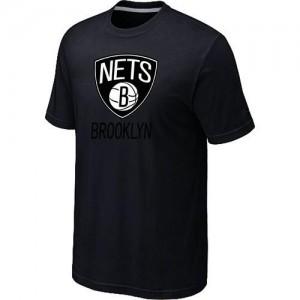 T-shirt principal de logo Brooklyn Nets NBA Big & Tall Noir - Homme