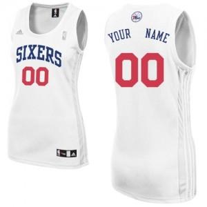 Maillot NBA Blanc Swingman Personnalisé Philadelphia 76ers Home Femme Adidas