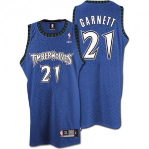 Maillot NBA Minnesota Timberwolves #21 Kevin Garnett Slate Blue Swingman Throwback - Homme