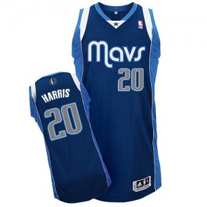 Maillot Adidas Bleu marin Alternate Authentic Dallas Mavericks - Devin Harris #20 - Homme