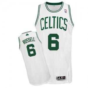 Boston Celtics #6 Adidas Home Blanc Authentic Maillot d'équipe de NBA en ligne pas chers - Bill Russell pour Homme