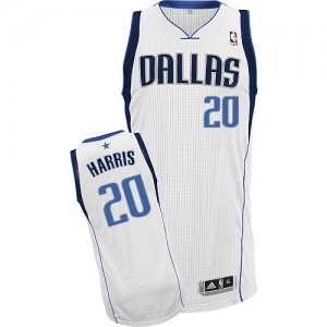 Maillot NBA Blanc Devin Harris #20 Dallas Mavericks Home Authentic Homme Adidas