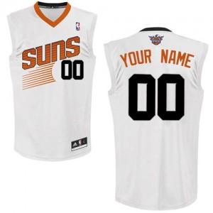 Phoenix Suns Authentic Personnalisé Home Maillot d'équipe de NBA - Blanc pour Enfants