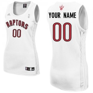 Maillot NBA Toronto Raptors Personnalisé Swingman Blanc Adidas Home - Femme