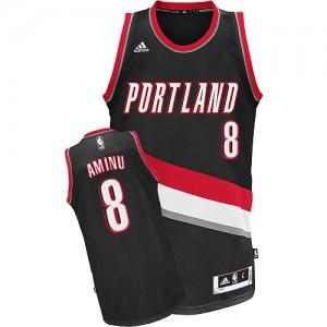 Portland Trail Blazers #8 Adidas Road Noir Swingman Maillot d'équipe de NBA boutique en ligne - Al-Farouq Aminu pour Homme