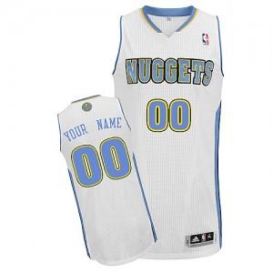 Maillot Denver Nuggets NBA Home Blanc - Personnalisé Authentic - Enfants
