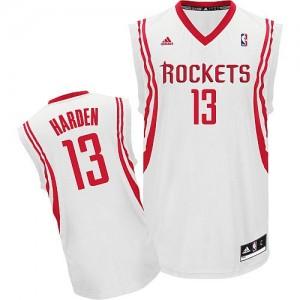 Houston Rockets James Harden #13 Home Swingman Maillot d'équipe de NBA - Blanc pour Homme