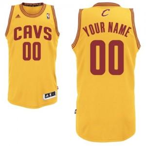 Cleveland Cavaliers Personnalisé Adidas Alternate Or Maillot d'équipe de NBA en soldes - Swingman pour Homme