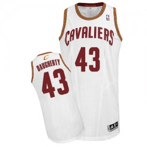 Maillot NBA Cleveland Cavaliers #43 Brad Daugherty Blanc Adidas Authentic Home - Homme