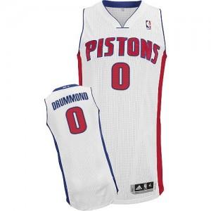Detroit Pistons #0 Adidas Home Blanc Authentic Maillot d'équipe de NBA prix d'usine en ligne - Andre Drummond pour Homme