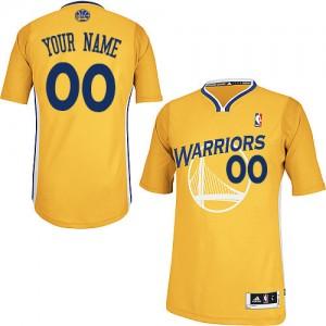 Golden State Warriors Personnalisé Adidas Alternate Or Maillot d'équipe de NBA pas cher en ligne - Authentic pour Enfants