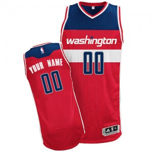 Maillot NBA Washington Wizards Personnalisé Authentic Rouge Adidas Road - Homme