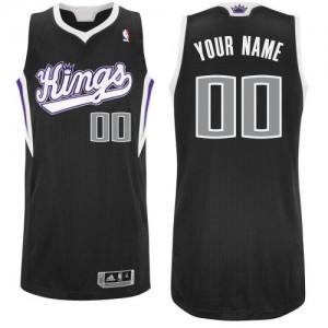 Maillot NBA Authentic Personnalisé Sacramento Kings Alternate Noir - Enfants