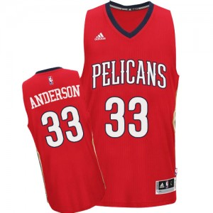 Maillot NBA Rouge Ryan Anderson #33 New Orleans Pelicans Alternate Swingman Homme Adidas