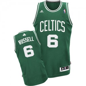 Maillot NBA Swingman Bill Russell #6 Boston Celtics Road Vert (No Blanc) - Homme