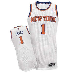 Maillot Authentic New York Knicks NBA Home Blanc - #1 Alexey Shved - Homme