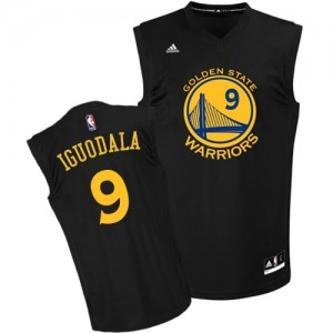 Golden State Warriors Andre Iguodala #9 Fashion Authentic Maillot d'équipe de NBA - Noir pour Homme