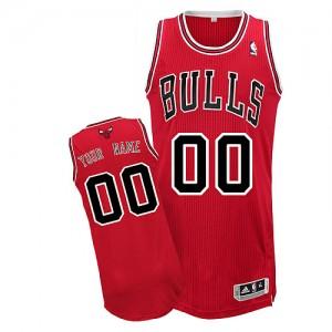 Chicago Bulls Authentic Personnalisé Road Maillot d'équipe de NBA - Rouge pour Homme