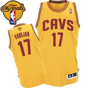 Cleveland Cavaliers Anderson Varejao #17 Alternate 2015 The Finals Patch Authentic Maillot d'équipe de NBA - Or pour Homme