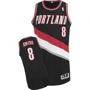 Maillot NBA Portland Trail Blazers #8 Al-Farouq Aminu Noir Adidas Authentic Road - Homme