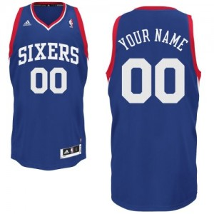 Maillot NBA Bleu royal Swingman Personnalisé Philadelphia 76ers Alternate Homme Adidas