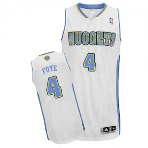 Maillot Authentic Denver Nuggets NBA Home Blanc - #4 Randy Foye - Homme