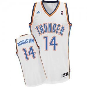 Oklahoma City Thunder #14 Adidas Home Blanc Swingman Maillot d'équipe de NBA en soldes - D.J. Augustin pour Homme