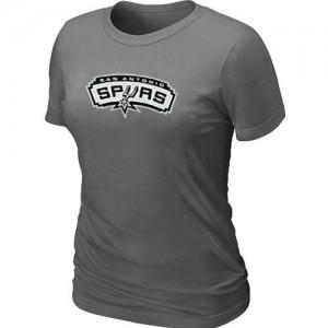 T-shirt principal de logo San Antonio Spurs NBA Big & Tall Gris foncé - Femme