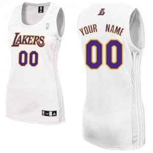 Maillot NBA Authentic Personnalisé Los Angeles Lakers Alternate Blanc - Femme