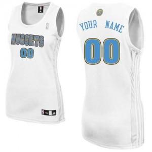 Denver Nuggets Personnalisé Adidas Home Blanc Maillot d'équipe de NBA Le meilleur cadeau - Authentic pour Femme
