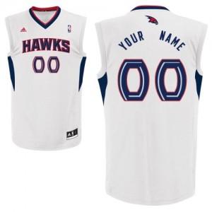 Maillot Adidas Blanc Home Atlanta Hawks - Swingman Personnalisé - Enfants