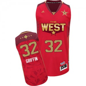 Los Angeles Clippers Blake Griffin #32 2011 All Star Authentic Maillot d'équipe de NBA - Rouge pour Homme