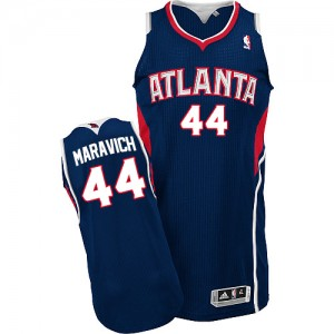 Maillot NBA Authentic Pete Maravich #44 Atlanta Hawks Road Bleu marin - Homme