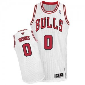 Chicago Bulls Aaron Brooks #0 Home Authentic Maillot d'équipe de NBA - Blanc pour Homme