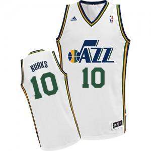 Utah Jazz Alec Burks #10 Home Swingman Maillot d'équipe de NBA - Blanc pour Homme