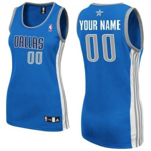 Maillot NBA Authentic Personnalisé Dallas Mavericks Road Bleu royal - Femme