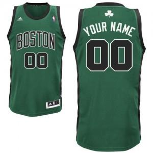 Boston Celtics Personnalisé Adidas Alternate Vert (No. noir) Maillot d'équipe de NBA vente en ligne - Swingman pour Enfants