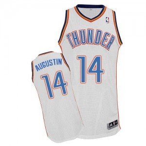 Maillot Authentic Oklahoma City Thunder NBA Home Blanc - #14 D.J. Augustin - Homme