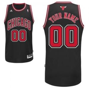 Maillot Chicago Bulls NBA Alternate Noir - Personnalisé Swingman - Homme
