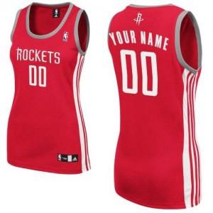 Houston Rockets Authentic Personnalisé Road Maillot d'équipe de NBA - Rouge pour Femme