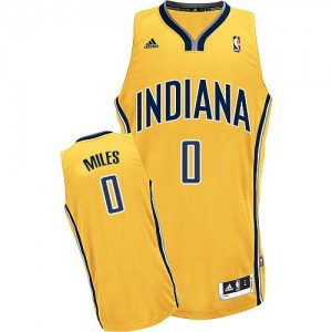 Maillot NBA Indiana Pacers #0 C.J. Miles Or Adidas Swingman Alternate - Homme