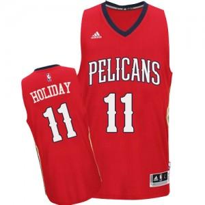 New Orleans Pelicans #11 Adidas Alternate Rouge Authentic Maillot d'équipe de NBA en vente en ligne - Jrue Holiday pour Homme