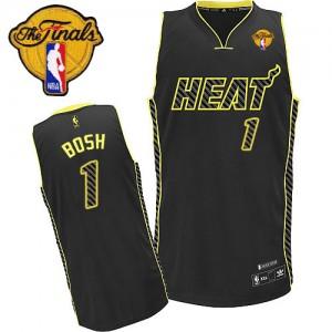 Maillot NBA Authentic Chris Bosh #1 Miami Heat Electricity Fashion Finals Patch Noir - Homme