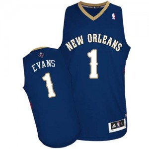 Maillot Authentic New Orleans Pelicans NBA Road Bleu marin - #1 Tyreke Evans - Homme